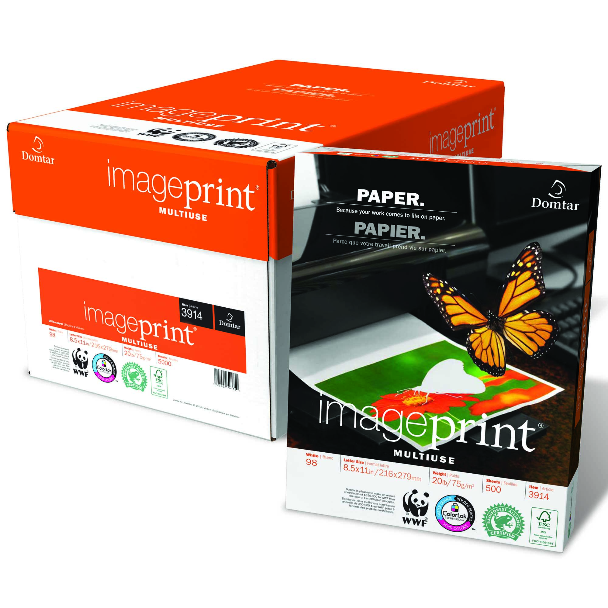 A box of ImagePrint® Multiuse paper by Domtar