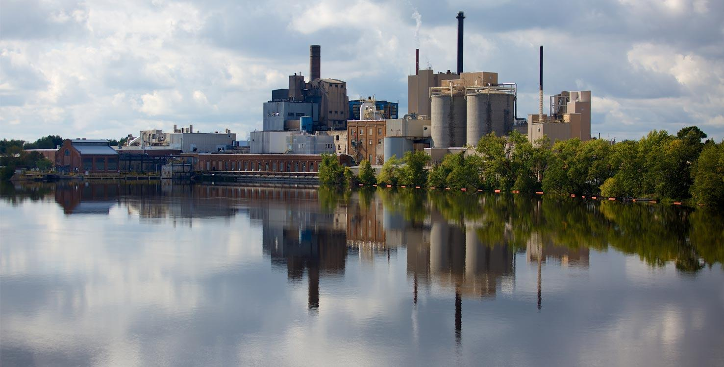 Overview of the Domtar mill at Nekoosa (Wisconsin, USA)
