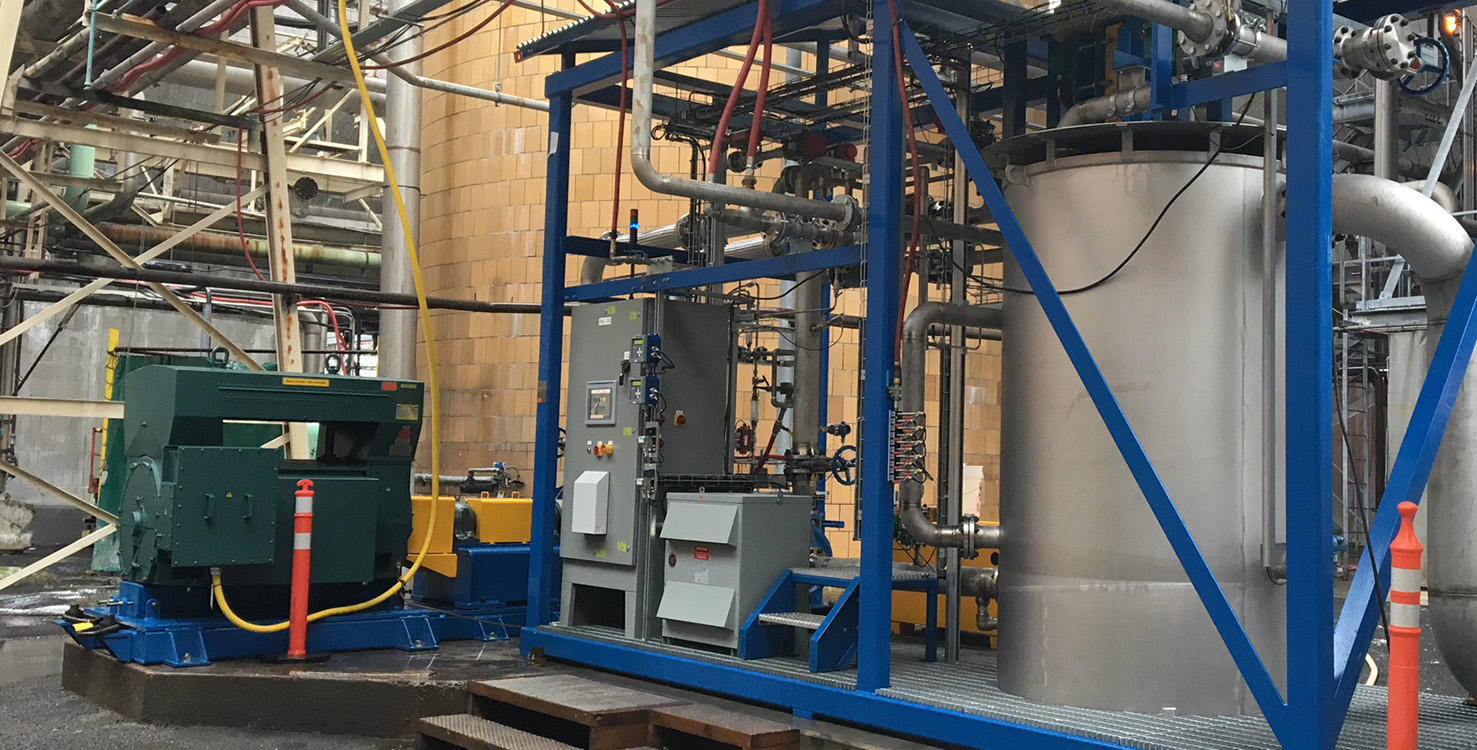 A plant equipment used in the production of Domtar's Stealth Fiber Technology