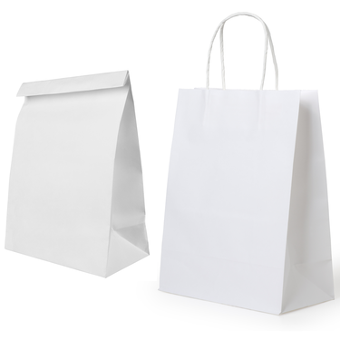 Paper bags made with Domtar Bagstock