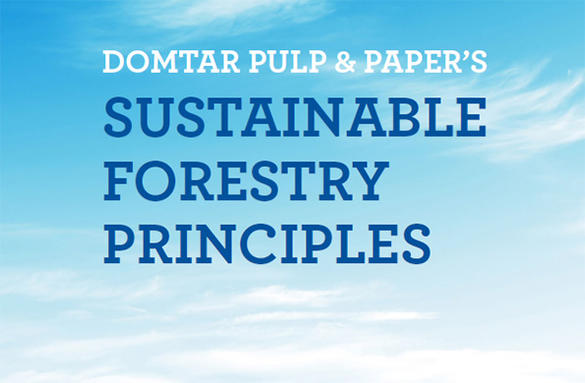 Domtar pulp and paper Sustainable forestry principles