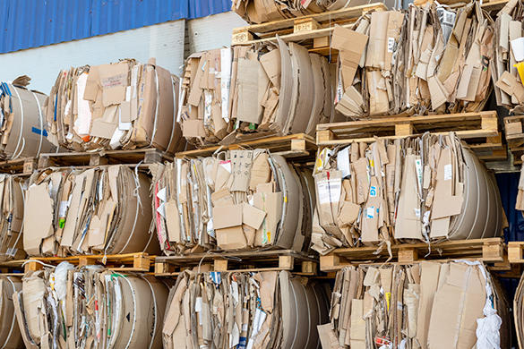 Stacks of Recycled Materials