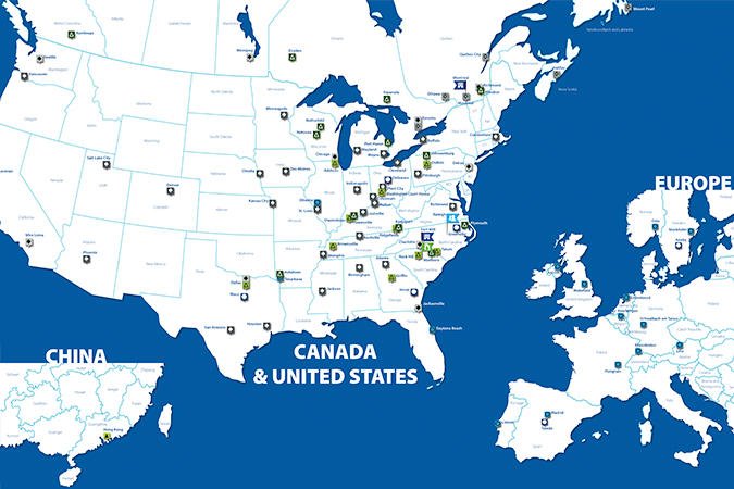 Domtar locations map